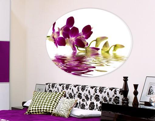 Oválny obraz Fialová Orchidea 4334ab00705