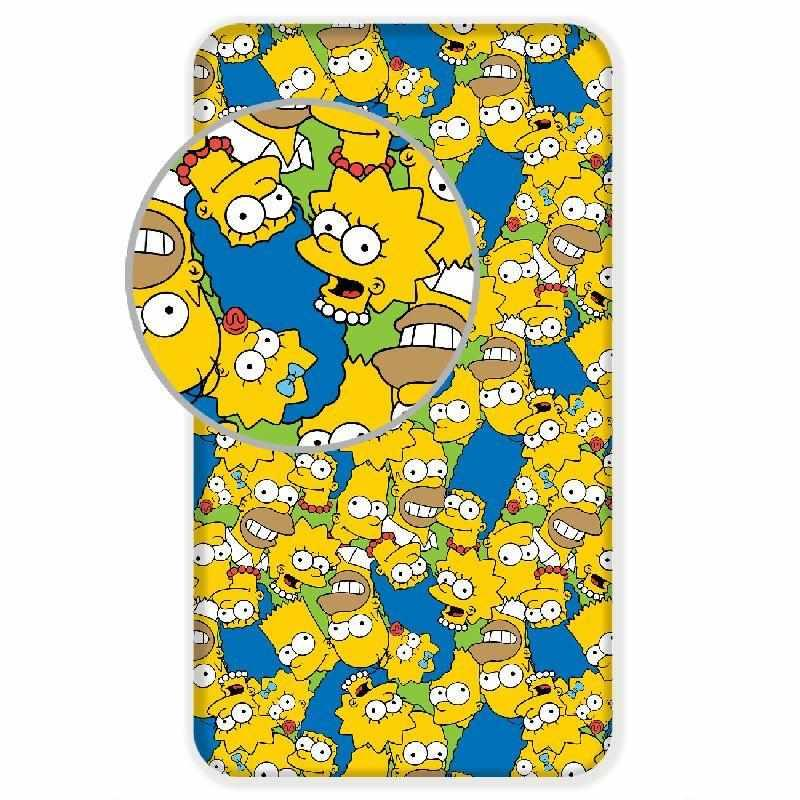 JERRY FABRICS Plachta Simpsons Family green  Bavlna, 90/200 cm