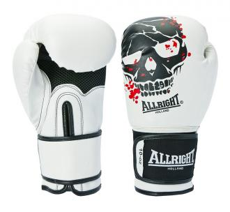 Boxerské rukavice Allright 10 oz Skull