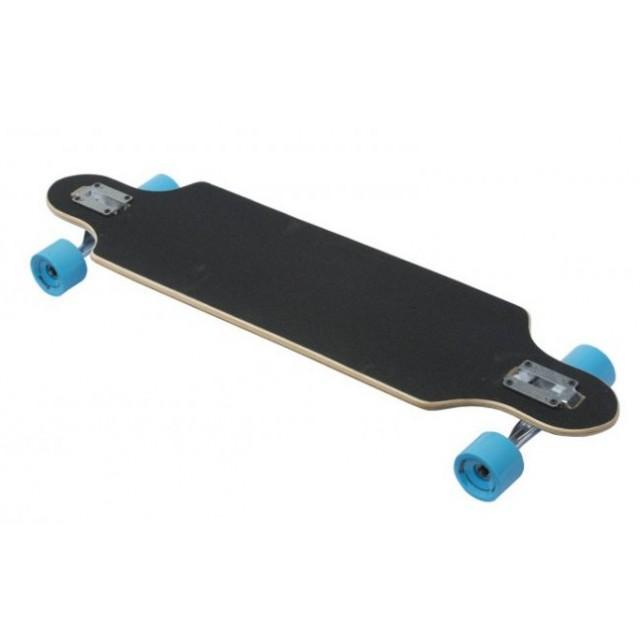 Karnage Drop Through Longboard Black / Blue