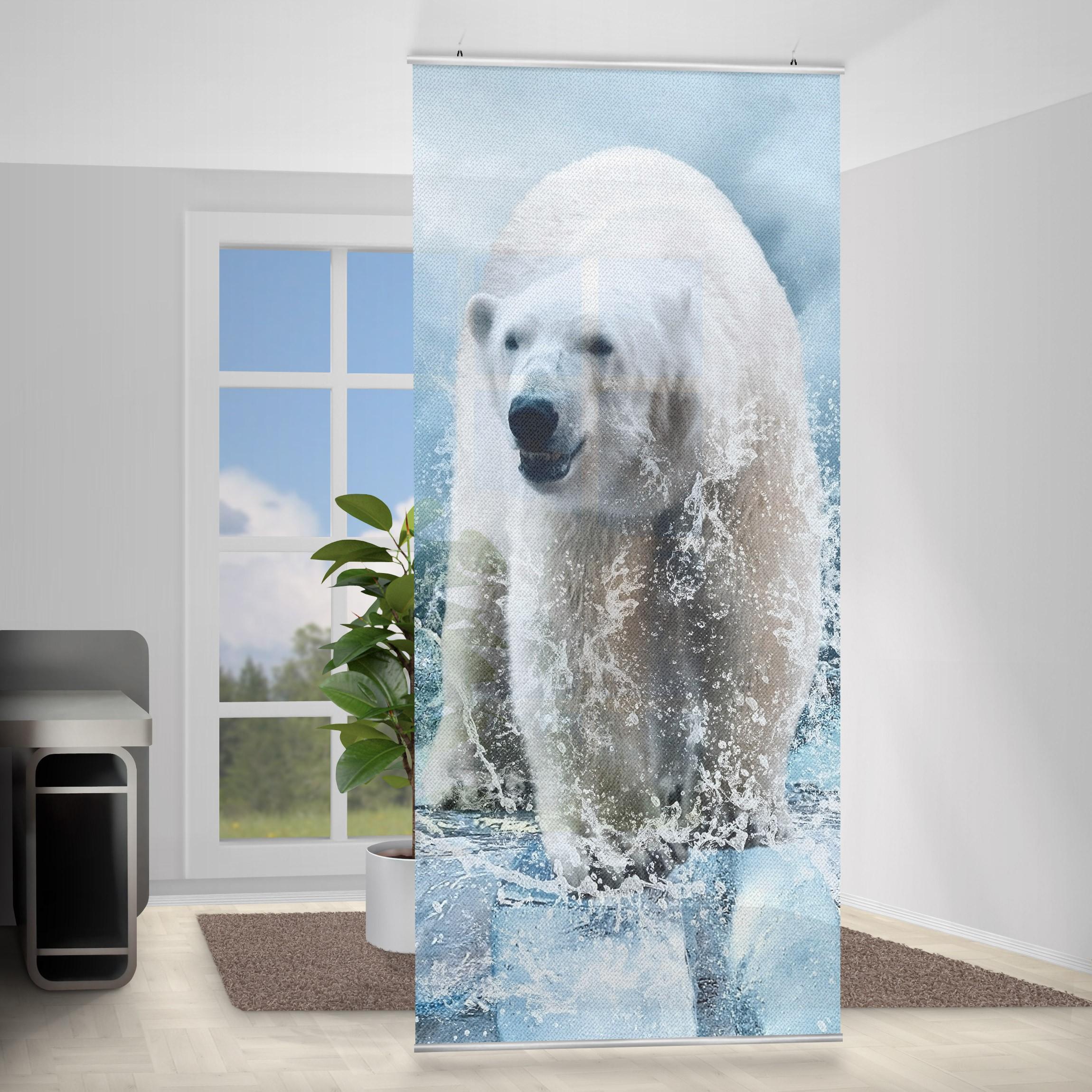 Moderný deliaci Paravan ľadový medveď
