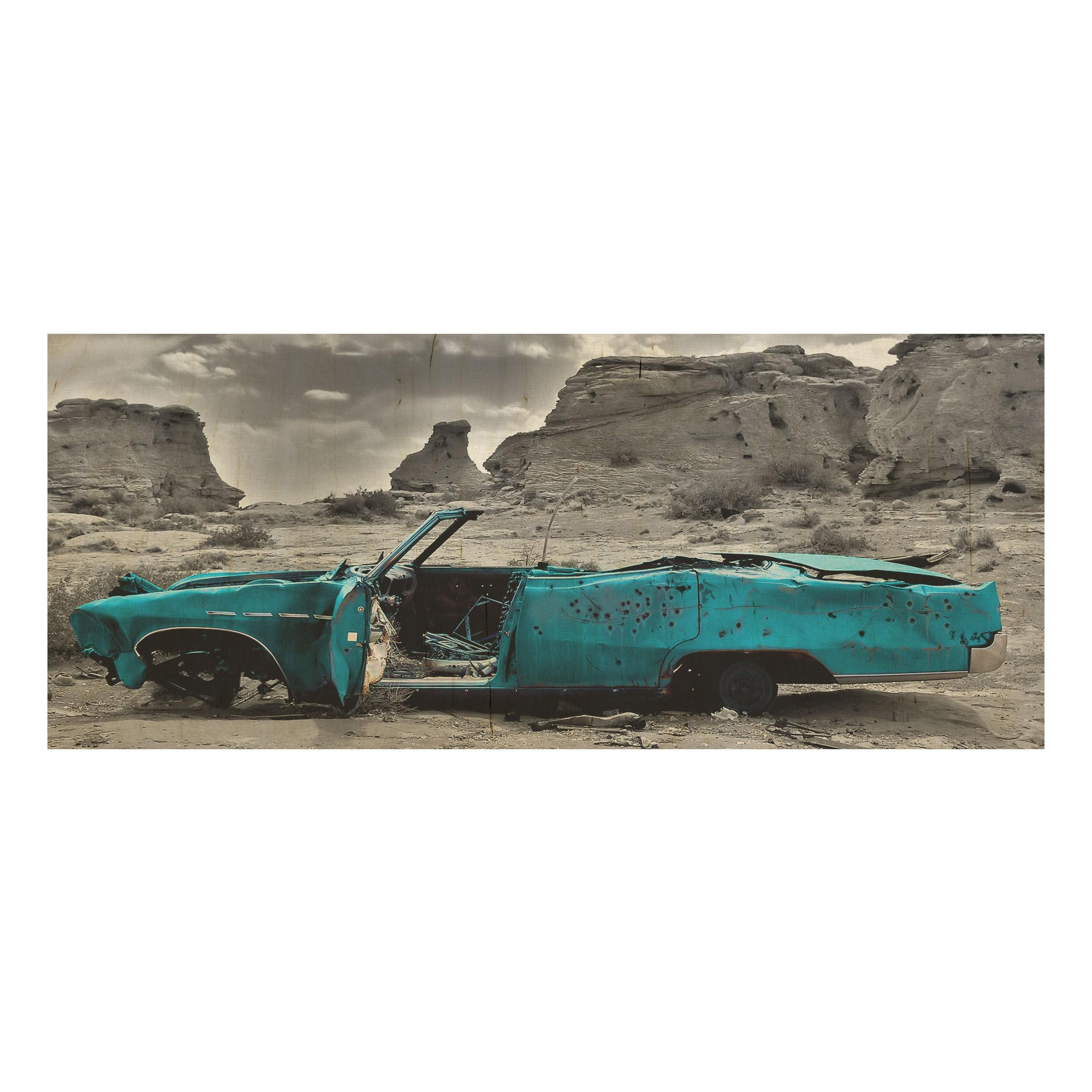 ... Drevenné obrazy Tyrkysový Cadillac ... e25a02d831b